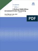 Offline Broadband Order User Manual