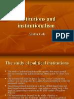 Institutions and Institutionalism