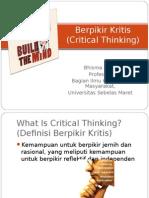 BUDAYA ILMIAH_Berpikir Kritis-Prof Bhisma Murti