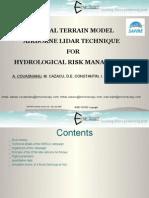 DIGITAL TERRAIN MODEL  AIRBORNE LIDAR TECHNIQUE   FOR HYDROLOGICAL RISK MANAGEMENT