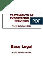 Exportacion de Servicios