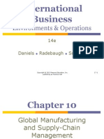 Ch 10 - Global Manufacturing and Supply Chain Management