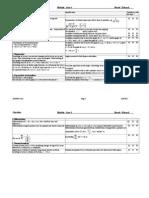 A Level - Edexcl C3 Check List