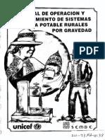 manual de operacion y mantenimiento de sistemas de agua potable rurales por gravedad