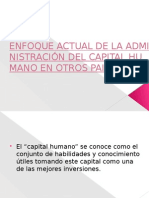 Enfoque Actual de La Administración Del Capital Humano