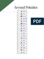 New Revised Pokedex