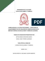 CONDICIONES DE ALMACENAMIENTO DE DOS ANALGÉSICOS