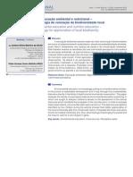 Educação ambiental e Nutricional