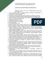 Subecte Admitere Masterat Psihologie 2014