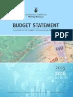 Bermuda 2015/2016 Budget