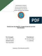 Técnicas de Aislamiento y Purificación de Cultivos Bacterianos.
