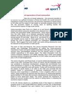 Economic Impact and Regeneration of Local Communities - Summary