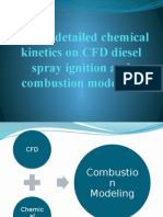 chemical kinetics on CFD diesel spray ignition