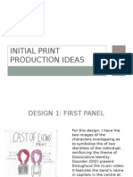 Initial Print Production Ideas