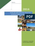 Guía de Aplicación Práctica 2014 - Costos para la Gestión - Licenciatura en Administración