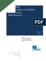 Programa 2014 - Costos para la Gestión - Licenciatura en Administración