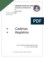 Registros, Cadenas en C++
