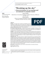 """Smith, Jacobs - 2011 - """"Breaking Up the Sky"""" the Characterisation of Accounting and Accountants in Popular Music"""