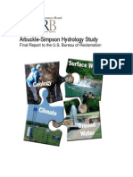 Arbuckle-Simpson Hydrology Study, Final Report to the U.S. Bureau of Reclamation
