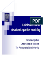 Strctural equation modeling