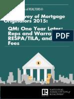 February 2015 Mortgage Originators Survey