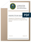 Energy Department IG Report on Conferences