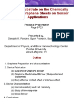 Perdue Graphene Chemically Prepared Graphene Sheets on Sensor Applications