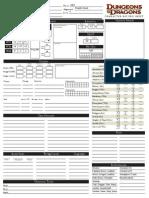 Fillable D&D Character Sheet (Final) Ver 2