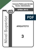 Prova 2012-Arquiteto
