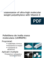 Stabilisation of Ultra-high Molecular Weight Polyethylene With Vitamin