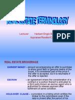 1. Real Estate Terminology