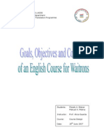 English Course for Waitrons