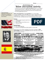 yellow journalism activity - spanish american war