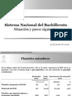 Sistema Nacional de Bachillerato-situación 2013