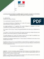 Elections départementales de mars 2015