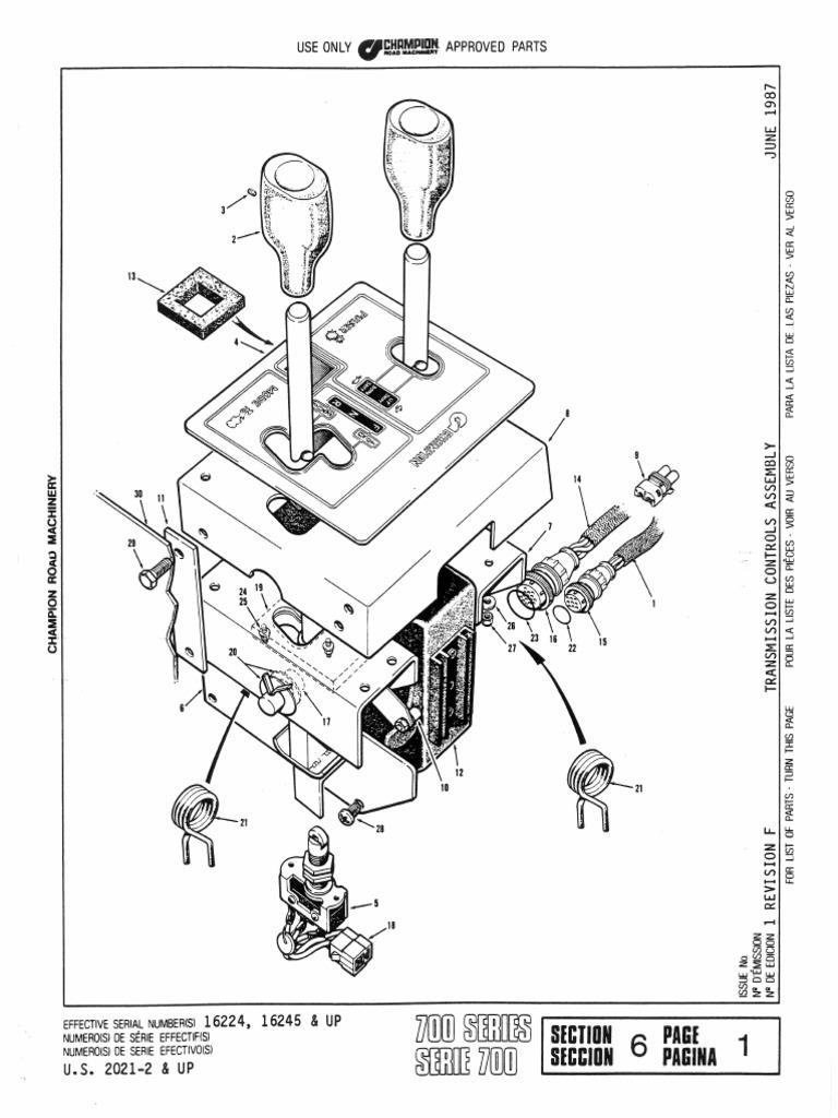 motoniveladora champion Section_6_Transmission_Model_8400