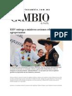 18-02-2015 Diario Matutino Cambio - RMV Entrega a Mixtecos Acciones Educativas y Agropecuarias