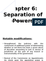 Chapter 6 Separation of Powers