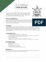 MatchBOX COO Job Description