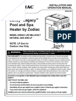Jandy Legacy Pool and Spa Heater by Zodiac