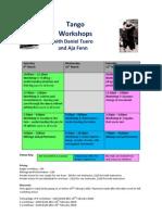 Daniel Tuero and Aja Fenn Workshops