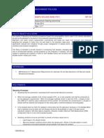 Sampling and Analysis Policy