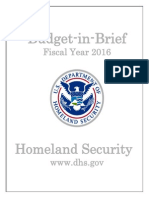 DHS - FY 2016 Budget in Brief