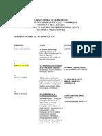 Cronograma Diplomado Docencia Universitaria - 2015-1