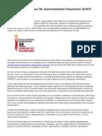 Las Nuevas Empresas De Asesoramiento Financiero (EAFI)