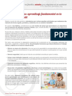 Rutinas y Habitos en Educacion Infantil