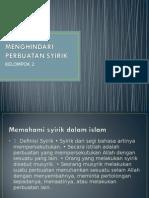 MENGHINDARI PERBUATAN SYIRIK (VIRA).ppt