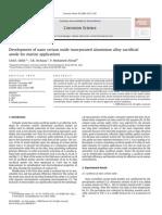 Development of nano cerium oxide incorporated aluminium alloy sacrificial