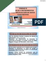 Clase 4 (Unidad 2. Tecnicas e Instrumentos Cualiitativos )