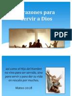 Razones para servir a Dios